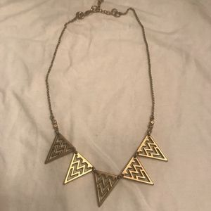 J. Crew gold decor triangle necklace